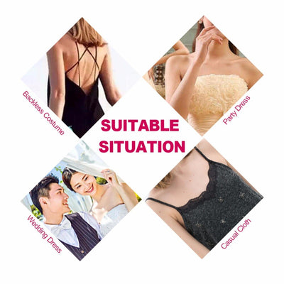 Women Strapless Invisible Bra Fly Bra Silicone Seamless Breast Push Up Self-Adhesive Drawstring Backless Nursing Bras For Women