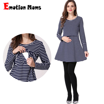 Emotion Moms Cotton spring Long maternity clothes Nursing Top Breastfeeding Tops for Pregnant Women maternity T-shirt