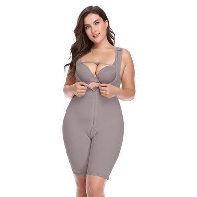 Plus Size Slimming Women Waist Trainer Body Shaper Underbust Bodysuits Modeling Strap Women Push Up Bodysuit Shapewear 5XL 6XL