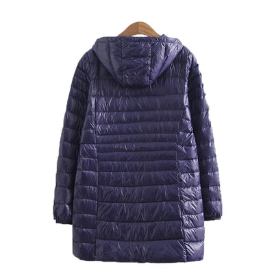 IEMUH Winter Plus Size 90% White Duck Down Women Jackets Down Warm Coat Female Long Jacket Fat Women Parkas Loose Snow Outwear