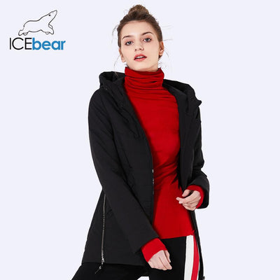 ICEbear 2019 new women's jacket Spring woman coat fashion female cotton denim color zipper design high-quality coats GWC18135D