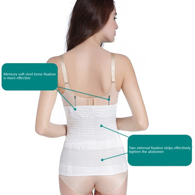 2 Pcs Gauze Belly Band For Pregnant Women Postpartum Recovery Maternity Girdle W15