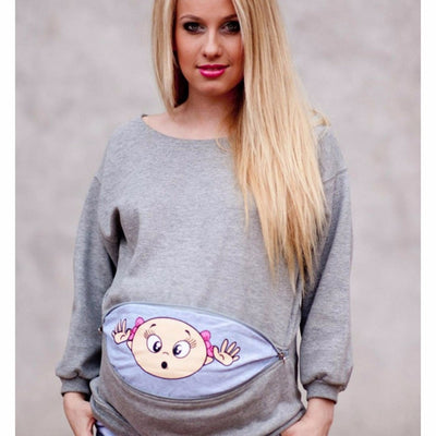 Summer Women Sweatshirt Pregnant T Shirt Pregnant Long Tee Shirts Maternity Cotton Baby Printed Long Sleeve Loose Tank Tops