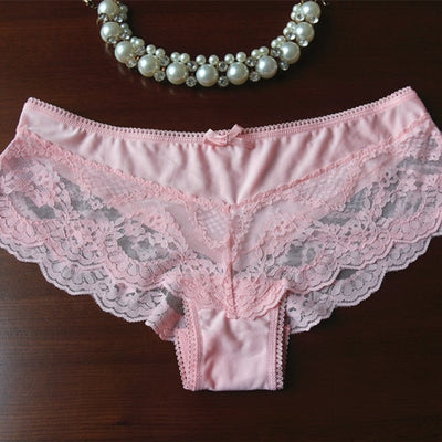 Voplidia Women Underwear Briefs sexy Women Panties 2018 Transparent Lace Seamless String Plus Size Women Underwear Panty PM044