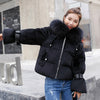 New Arrival Womens Winter Jackets Hooded With Fur Cotton Padded Winter Jacket Women Fashion 2019 Coat Parka Casaco Feminino