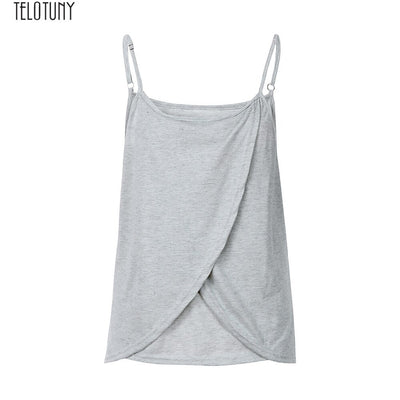 TELOTUNY Women Pregnant breastfeeding camisole tanks Maternity Strappy Vest Nursing Tops lose&comfortable blouse T-Shirt Z0207