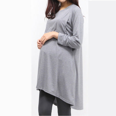 Spring Autumn Pregnant Women Clothes Casual Maternity Women Dresses Plus Size Women Pregnancy Breastfeeding Clothing WY28