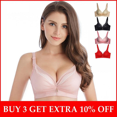 Push Up Bra For Small Breasts Wire Free Thick Cup Lingerie Femme Add One Cup Women Brassiere