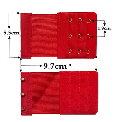Hot 4 PCS Bra Extenders Strap 3 Hooks 3 Rows Women Ajustable Intimates Lengthened Bra Hook Buckle Bra Extension Belt