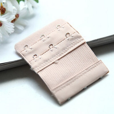 Women Bra Strap Extender 2 Rows 3 Hooks Nylon Bra Extenders Elastic Adjustable Clasp Bar Strap Connector Bra Accessories