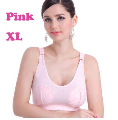 Hands Free Nursing Bra Maternity Breast Pumping Bras Brassiere for Pregnant Women Baby Breast Milk Feeding Underwear Simple