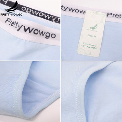 Prettywowgo 6 pcs/lot Good Quality Underwear Women Solid Color Cotton Cute Panties 8525
