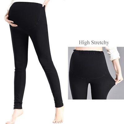 2018 Cotton Over Belly Maternity Leggings Plus Size Pregnant Women Yoga Fitness Pants Pregnancy Workout Clothes Adjust Trousers