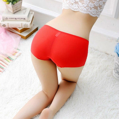 2018 summer women boy shorts solid color top elastic Safety Short Pants plus size breathable Boyshort pink beige french panties