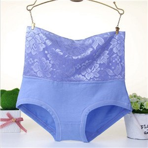 #2889 LeafMeiry Plus Size Underwear Women Sexy Body Shaper High Wasit Flower Lace Panties Briefs Women Panties