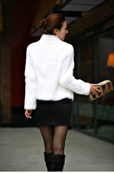2019 New Genuine Rabbit Fur Coat women full pelt rabbit fur jacket Winter Fur Overcoat customized big size Stand Collar FP267
