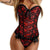 LELINTA Sexy Women Lingerie Black Red Floral Lace Up Overbust Corset Control Waist Bustiers Party Steampunk Gothic Clothing