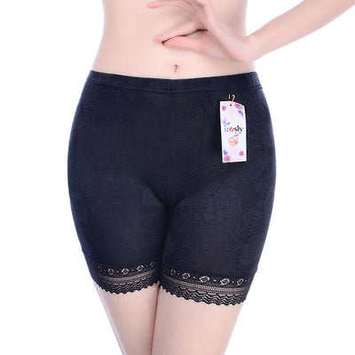 Innsly Safety Short Pants Under Skirts For Women Boyshorts Panties Big Size Black Female Safety Boxer Panties Underwear L XL 2XL