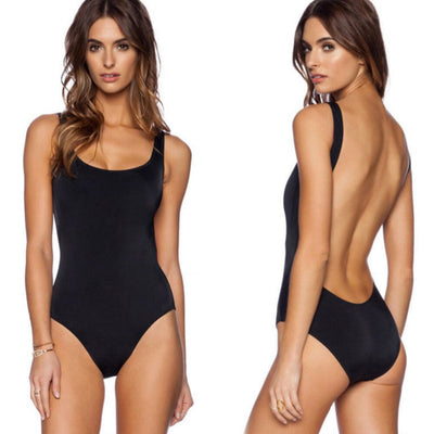OKOUFEN Sexy One Piece Swimsuit Women Swimwear Female Solid Backless Monokini Bathing Suit Beachwear Bodysuit Drop Ship