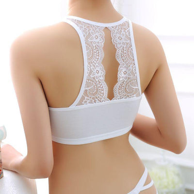 1PC High Quality Sexy Women Lace Back Bralette Crop Tank Tops Bra Bustier Padded Seamless hot Bra Cropped Feminino