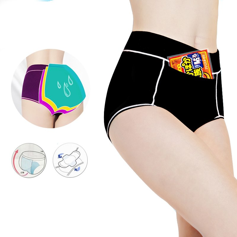 0aed9afd4076 Women Menstrual Panties Period Physiological Pants for Girls Warm Female  Cotton Leak Proof Sexy Underwear Breathable