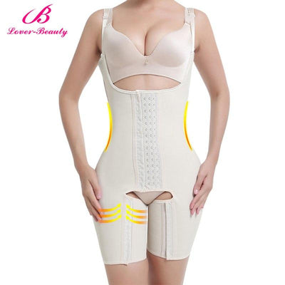 Lover Beauty Full Body Shaper Plus Size Waist Trainer Latex Waist Cincher Corset Tummy Control Underwear Hot Shapers Shapewear
