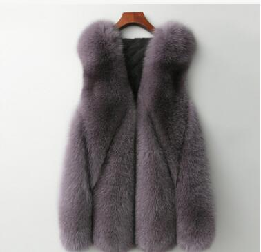BINYUXD New Arrival quality 2018 fashionable jacket Winter Warm Fashion brand Women Faux Fur Vest Faux Fur Coat Fox Fur Vest