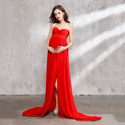Melario Maternity dress 2019 Autumn Maternity Photography Props Maternity Dress Full Sleeve Cotton Women Clothes Pregnant Dress