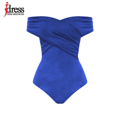 IDress Women Clothes 2018 Sexy One Piece Body Suit Slash Neck Rompers Shorts White Black Blue Green Off the Shoulder Bodysuit