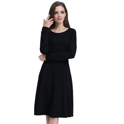 Emotion Moms Solid O-neck Long Sleeve Maternity Clothes Comfortable Nursing Breastfeeding Dresses for Pregnant Women Long dress