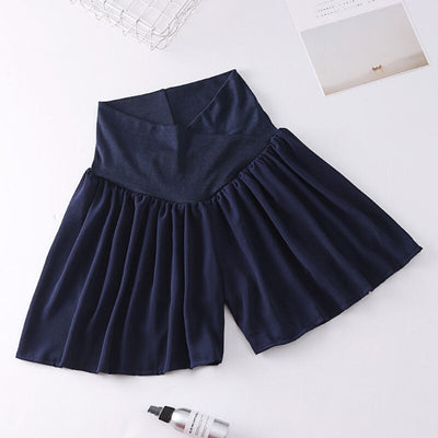 HziriP New Korean Maternity Mini Chiffon Skirts Fashion Pregnant Women Fashion Summer Solid Skirt High Waist Pregnancy Clothes