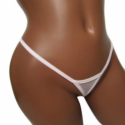 Sexy thong mesh transparent sexy panties black white trangle skimpy sexy g-string micro thong plus size women knickers