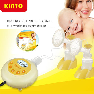New upgrade Kinyo Double Electric Breast Pump Baby Milk Double-core Bottle Silent Automatic Double Sides Nursing Breast Pumps