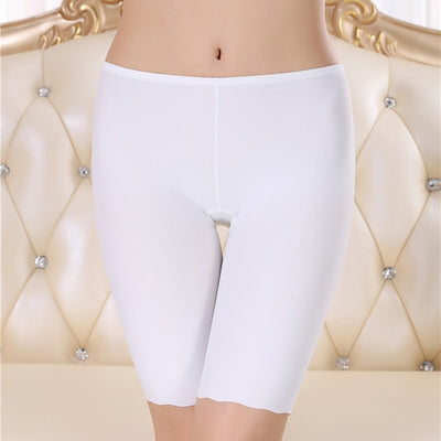 Women Boyshorts Pants Ice Silk Seamless Short  Women Five Minutes Black Silk  Safety Pants Women Silk Ice Safety Underwear Boxer