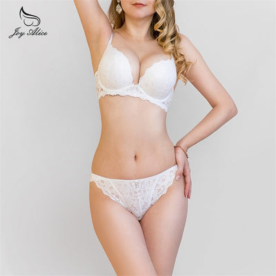 2019 New Arrival lace bra set padded push up bra bra panties underwear women briefs  intimates women's lingerie 12002-3