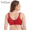 FallSweet Full Coverage Comfortable Bra for Women Full Cup Non Padded Minimizer Bra White Black