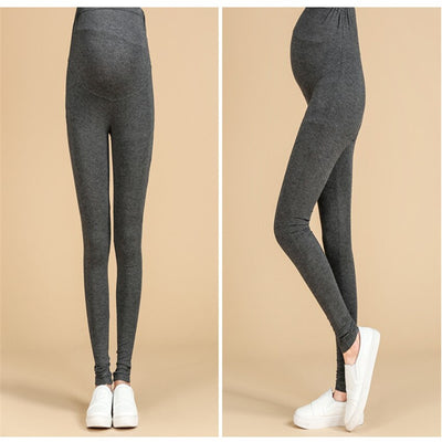 COSPOT Maternity Autumn Cotton Leggings Pregnant Women High Waist Abdominal Leggings Maternity Black Gray Pants Trousers 25