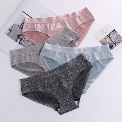 Sexy ladies panties one-piece seamless cotton ice silk underwear female sense close-fitting elastic breathable ladies briefs