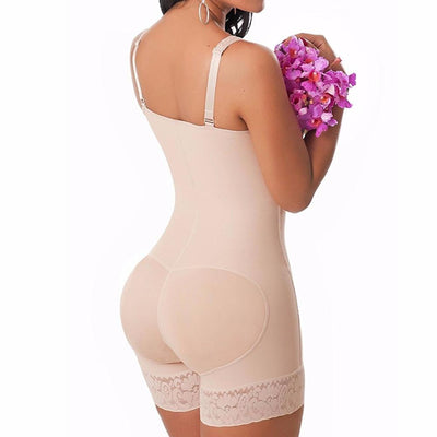S-6XL Zip up Bodysuit Full Body Shaper Waist trainer Trimmer butt enhancer butt lifter with tummy control post partum women E19B