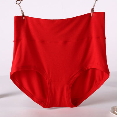 QA194 Plus size 6xl 7xl women panties bamboo fiber underwear high waist body shaping briefs female panties
