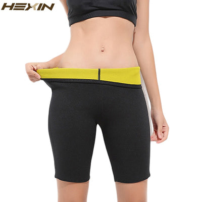 HEXIN Slimming Body Shapers Stretch Shorts Pants Hot Sauna Sweat Neoprene Fitness Weight Loss Unisex Control Panties
