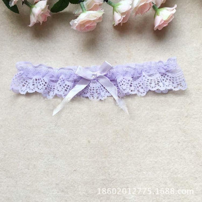 1PC Sexy Women Girl Lace Floral Bowknot Wedding Party Bridal Lingerie Cosplay Leg Garter Belt Suspender