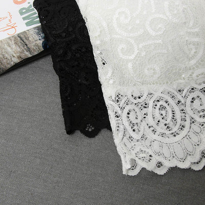 Summer Women Sexy Tank Tops Lace Floral Crochet Padded Bra Cotton Tank Tops Sexy V-Neck Lace Crochet Vest Casual