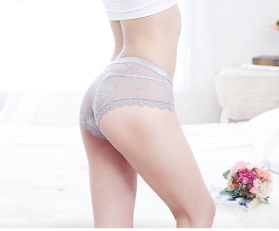 ACHEYA Big Size Sexy Lace Panties Women's Underwear Sheer Lace Briefs Knickers Soft Boxer Lace Briefs Plus Size Panty XXL XXXL