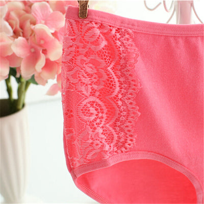 #224 Plus Size LeafMeiry Underwear Women Cotton Briefs Everyday Women Panties With Sexy Lace