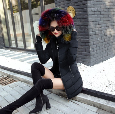 2019 New Parkas Female Women Winter Coat Thickening Cotton Winter Jacket Womens Outwear fur Parkas for Women Winter