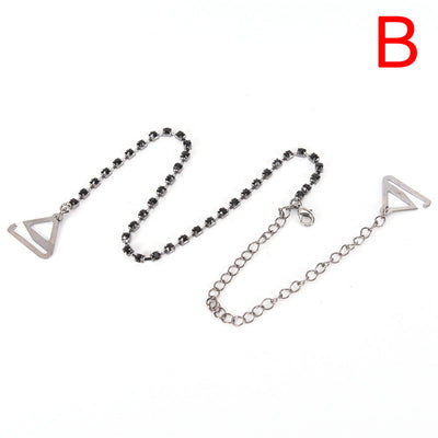 2Pcs/Pair Crystal Bra Straps 2 Rows Gorgeous Prom Diamante Rhinestone Bra Straps Belt Adjustable Sparkle Shoulder Strap