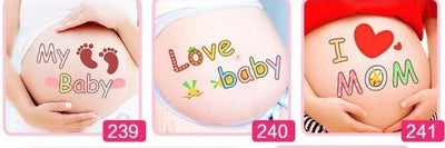 3 pcs/lot Cute Maternity Photography Props 3D Belly Stickers Pregnant Women Photo Temporary Tattos Cartoon