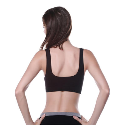 Seamless Wireless Bra Push Up Backless Bralette Women Crop Top Sexy Lingerie White Black Seamless Fitness Bras for Women