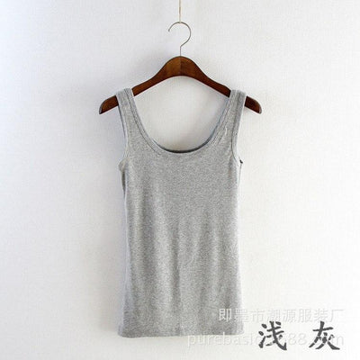 60cm Soft Women Sexy Solid Sleeveless Vest,Camisole Vest Top Cropped for Ladies Multicolor Brushed Primer  woman